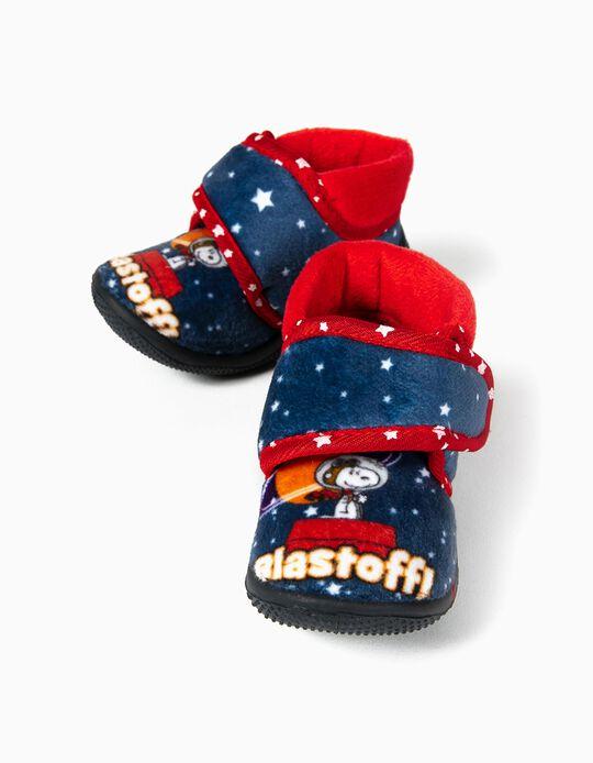 Zapatillas de Casa Beppi para Bebé Niño 'Snoopy', Azul/Rojo