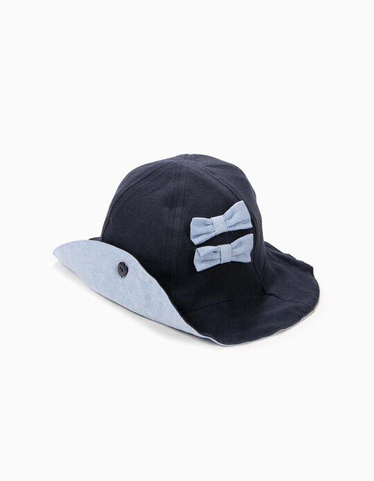Chapéu para Bebé Menina, Azul
