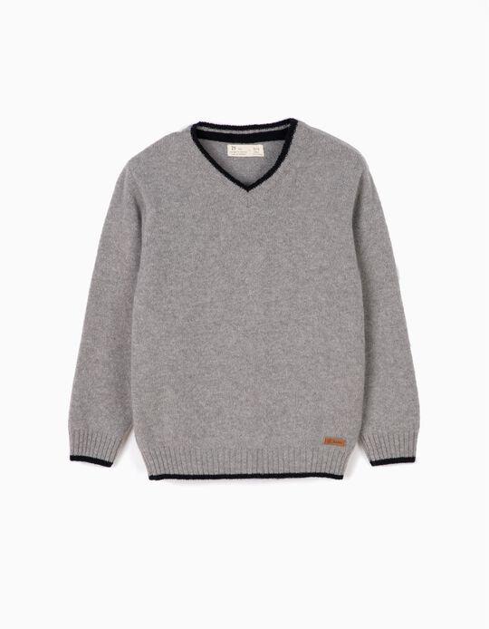 Camisola Lã Cinza