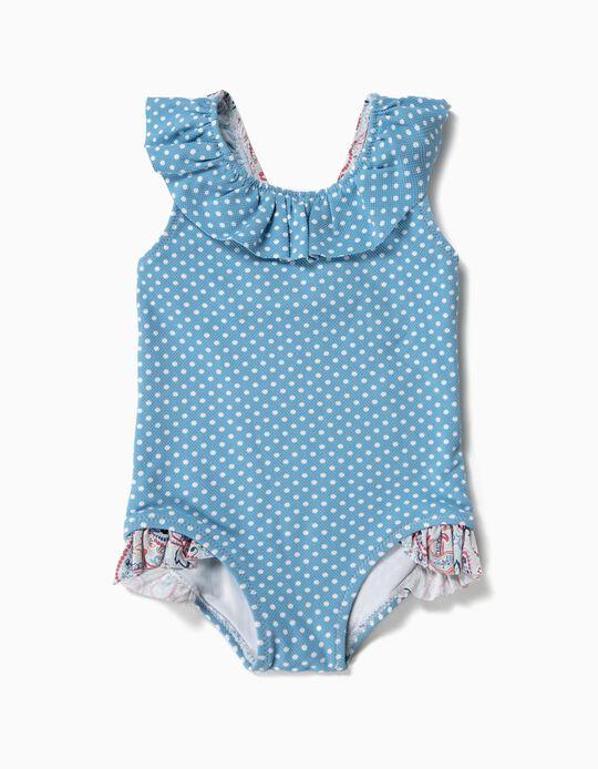 Bañador para Bebé Niña 'Dots & Paisley', Azul