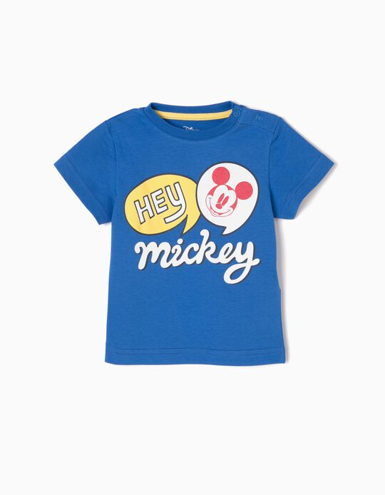 Camiseta Azul Hey Mickey