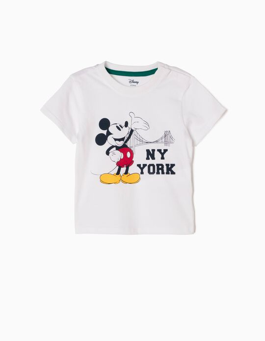 Camiseta Mickey New York Blanca
