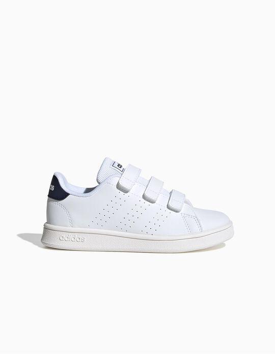 Zapatillas Infantiles 'Adidas Advantage', Blanco/Azul