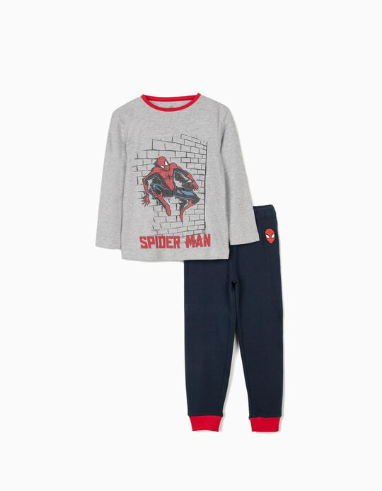 Pyjamas for Boys, 'Spider-Man', Grey/Blue