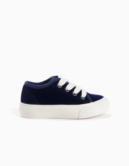 Zapatillas Terciopelo Azul