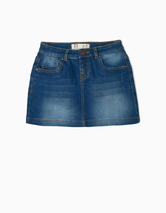 Denim Skirt for Girls, Blue