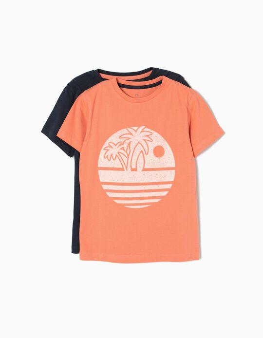Conjunto de 2 Camisetas Blue&Orange