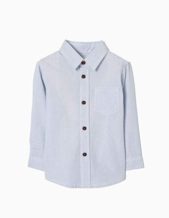 Camisa para Bebé Niño a Rayas, Azul