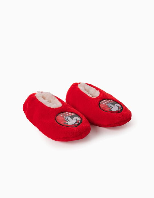 Slippers for Girls, 'Minnie Mouse', Red