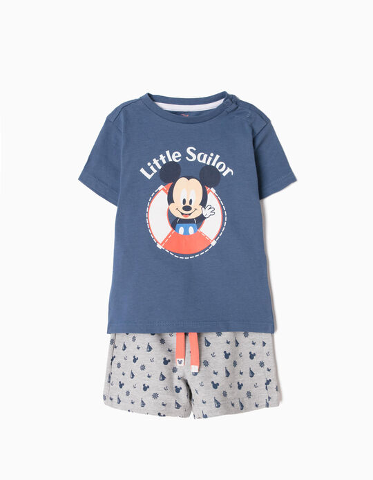 Conjunto Camiseta y Short Mickey Sailor