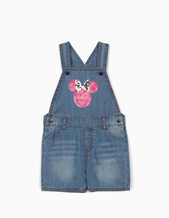 Short Dungarees for Baby Girls, 'Minnie Mouse', Blue