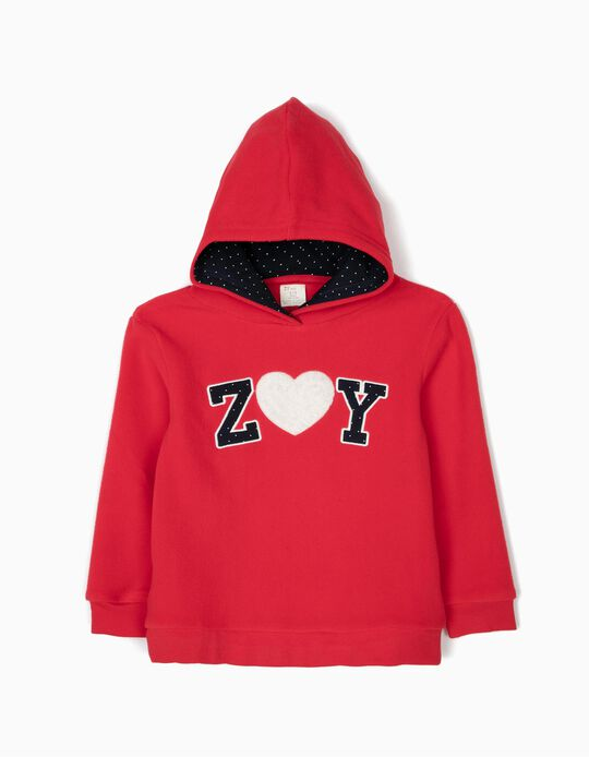 Sweatshirt Polar ZY Vermelha Pintinhas