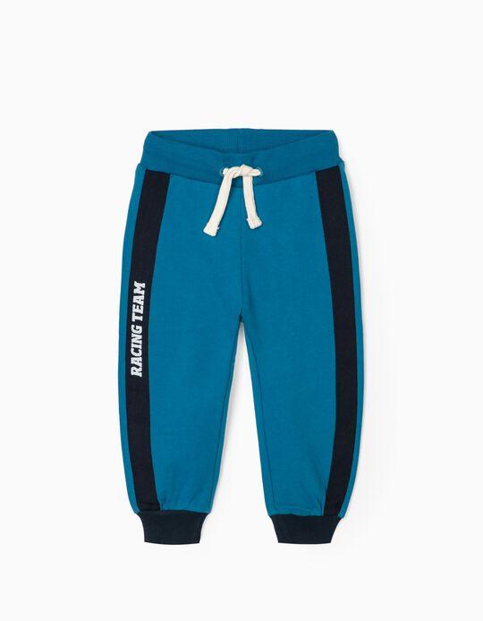 Calças de Treino para Bebé Menino 'Racing Team', Azul