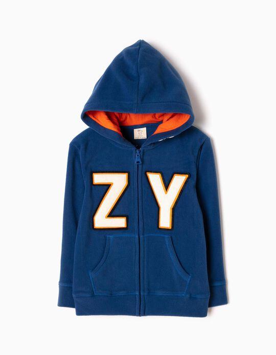 Chaqueta Polar con Capucha ZY Azul