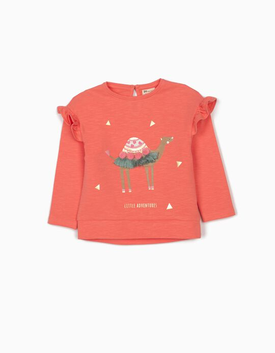 Lightweight Sweatshirt for Baby Girls, 'Little Adventures', Pink
