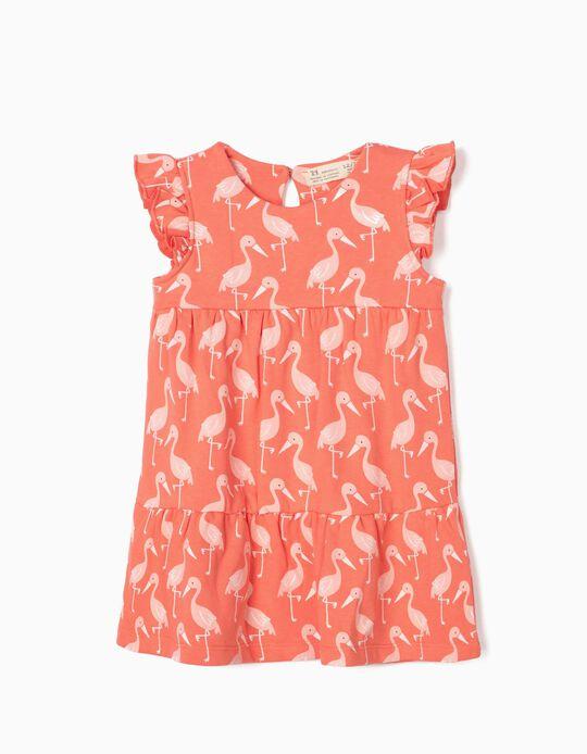 Dress for Baby Girls, 'Flamingos', Pink