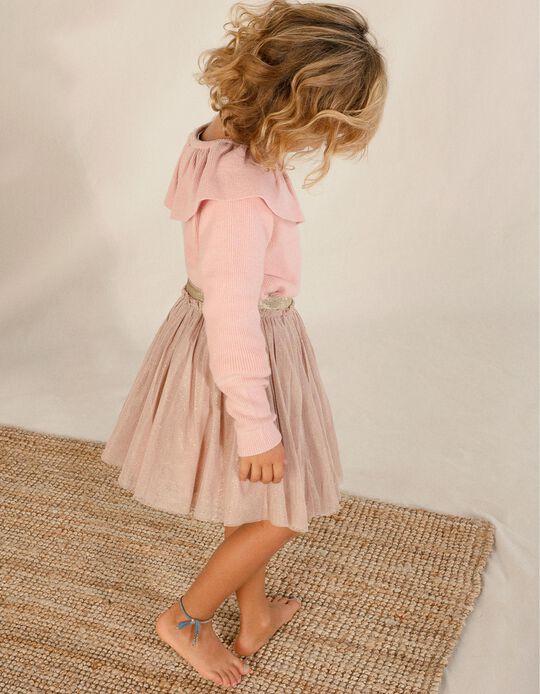 Falda de Tul para Niña, Rosa Viejo