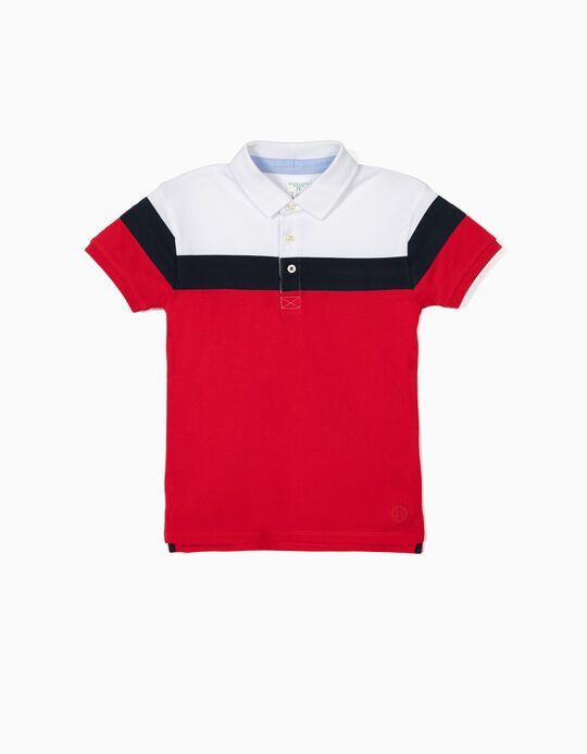 Short Sleeve Polo Shirt for Boys 'B&S', Multicolour