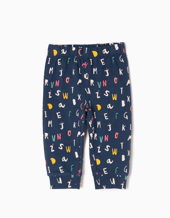 Pantalón de Chándal Estampado Alphabet
