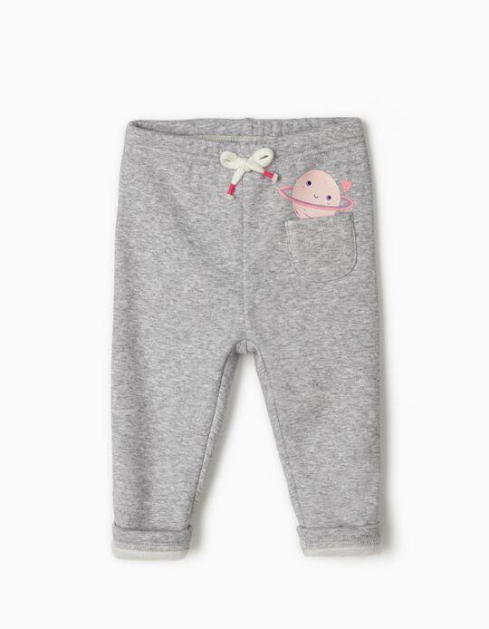 Pantalón de Chándal para Bebé Niña 'Saturn', Gris