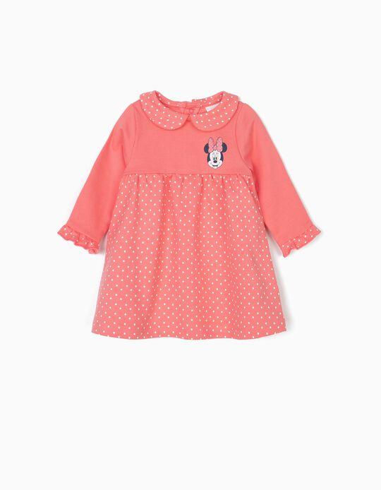 Vestido para Recém-Nascida 'Minnie', Rosa
