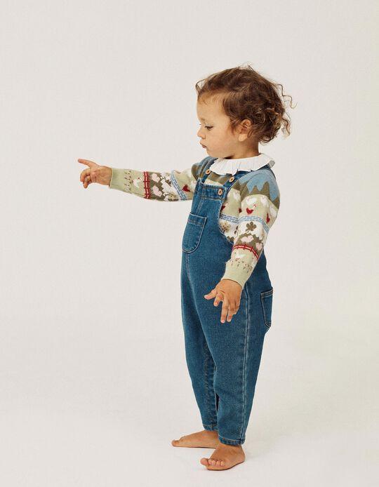 Peto para Bebé Niña 'Comfort Denim', Azul