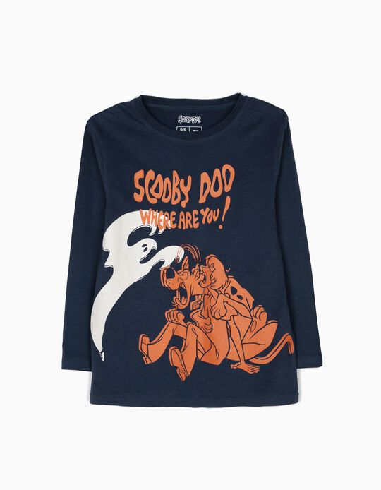 Camiseta de Manga Larga Scooby Doo Azul
