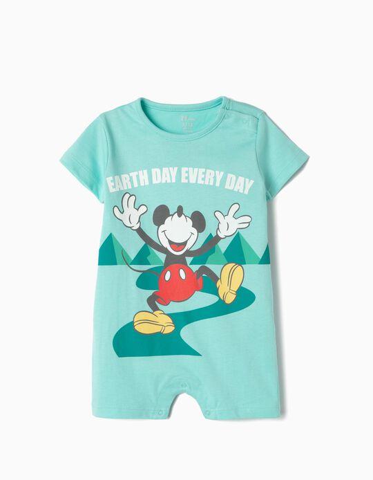 Babygrow Algodão Orgânico para Bebé 'Mickey Earth Day', Azul