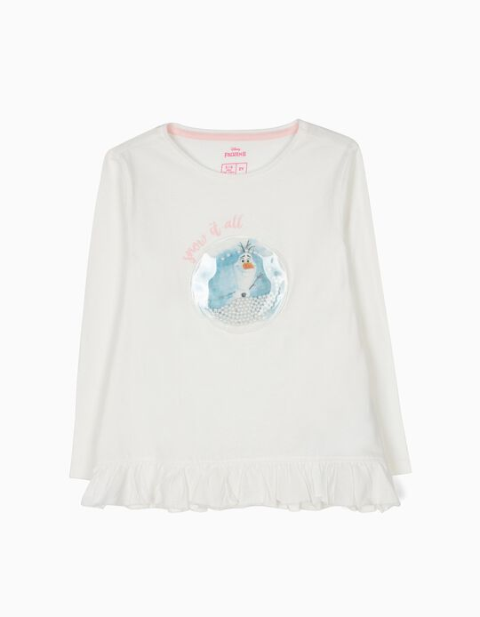 Camiseta de Manga Larga Olaf Frozen II Blanca