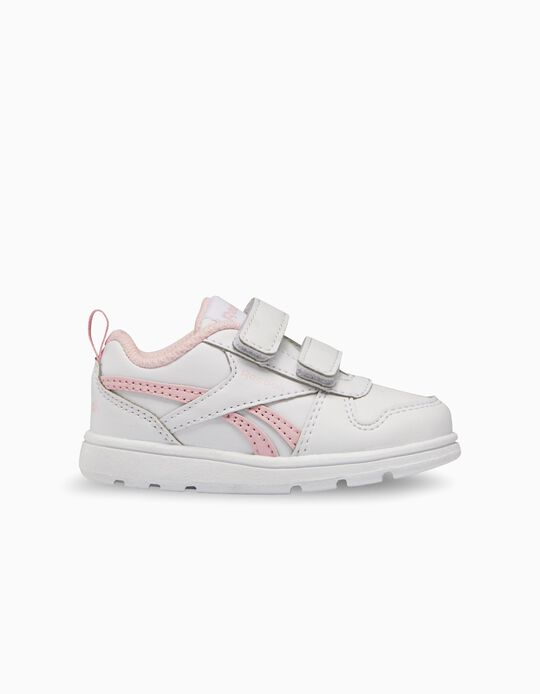 Trainers Reebok for Baby Girls 'Royal Prime', White/Pink