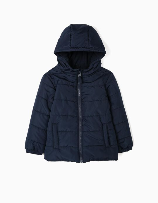 Padded Jacket for Boys, Dark Blue