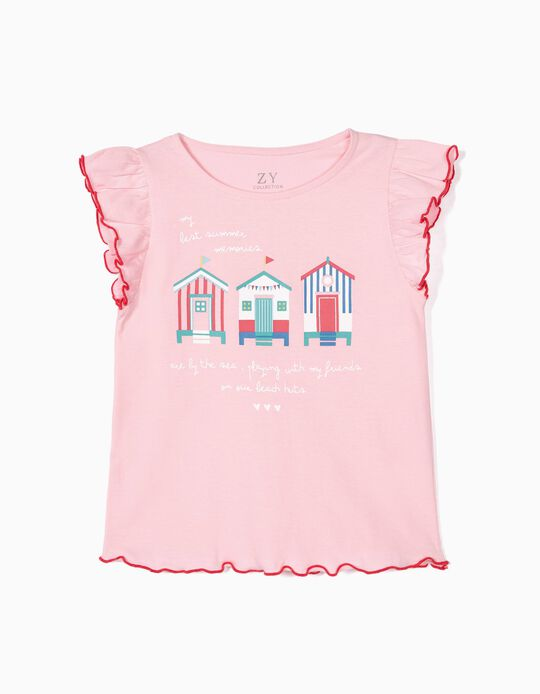 T-shirt for Girls 'Summer Memories', Pink