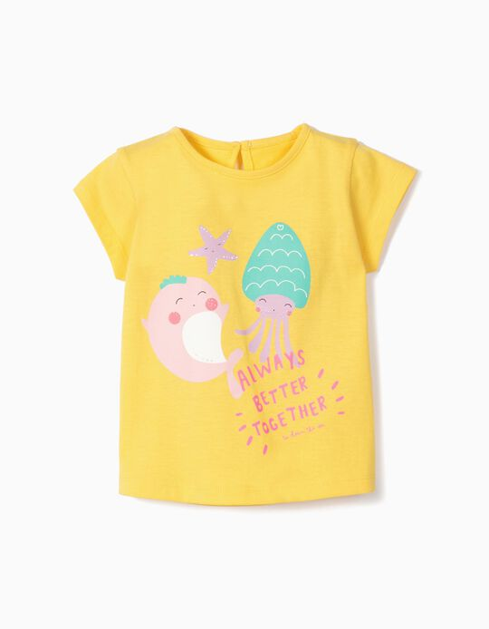 Camiseta para Bebé Niña 'Better Together', Amarillo