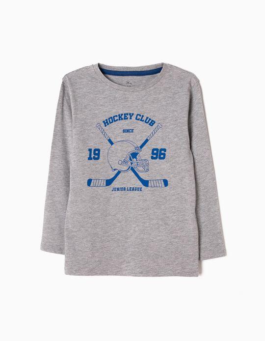 Camiseta de Manga Larga Hockey Gris