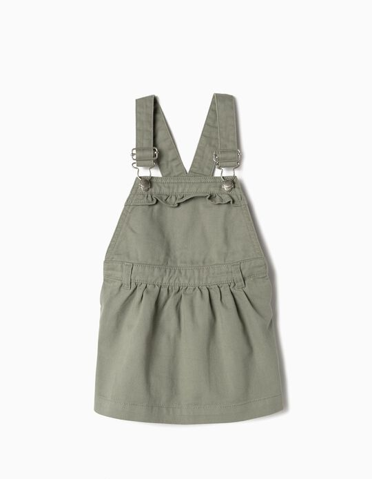 Pinafore Dress for Baby Girls, Green