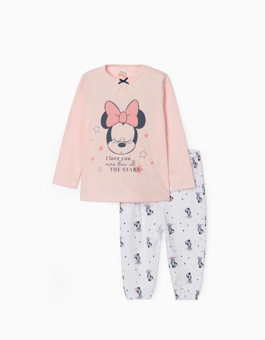Pijama para Bebé Niña 'Minnie', Rosa/Blanco