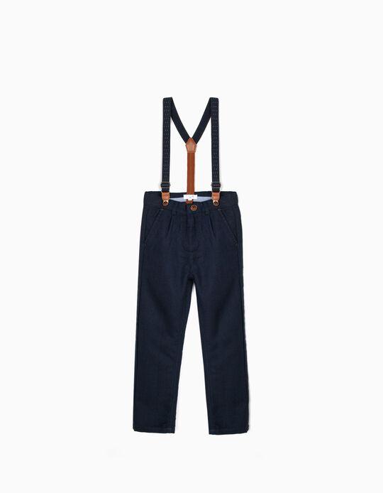 Pantalón con Tirantes para Niño 'B&S', Azul Oscuro