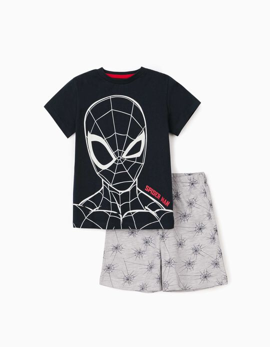 Pyjamas for Boys, 'Spider-Man', Dark Blue/Grey