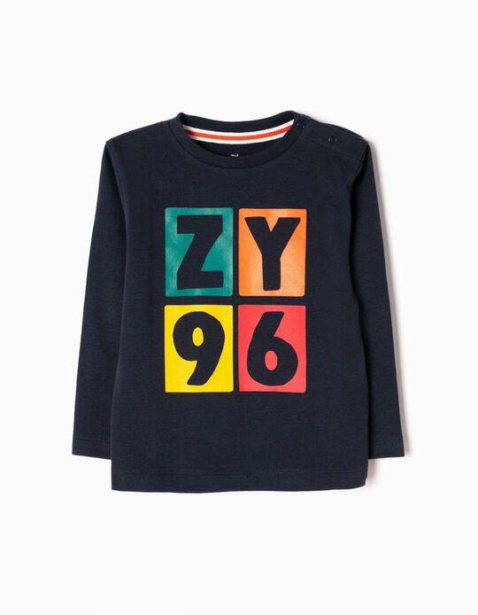 T-shirt Manga Comprida ZY 96 Azul