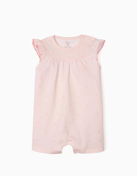 Grenouillère rayée bébé fille 'Butterflies', rose