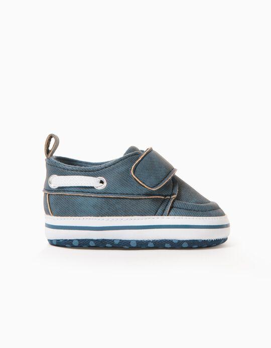 Zapatos para Recién Nacido 'Sailor', Azul