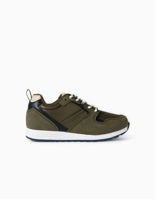 Trainers for Boys, Different Materials 'ZY Superlight Runner', Green