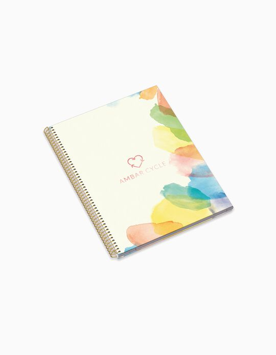 A4 Spiral Ruled Notebook 'Ambar Cycle Aqua & Sky', Assorted