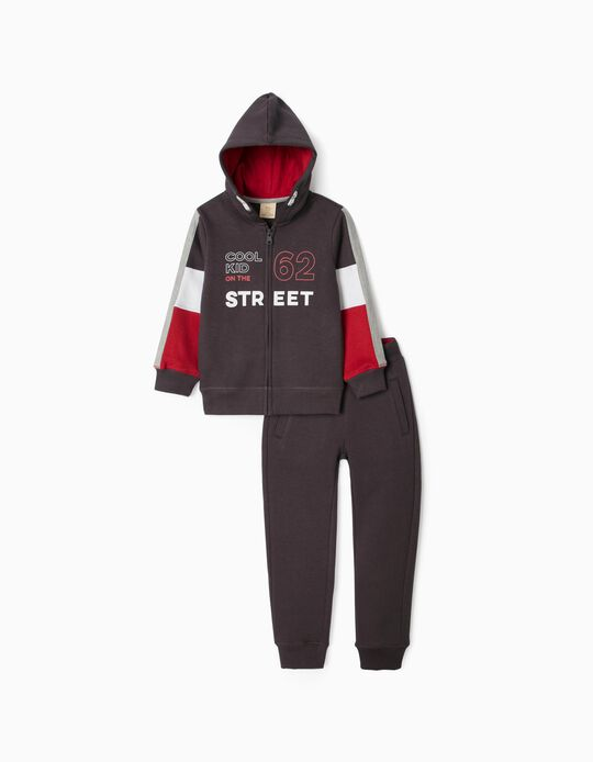 Tracksuit for Boys 'Cool Kid', Grey