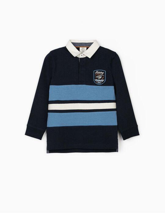 Polo Shirt for Boys 'Fishing Club', Blue