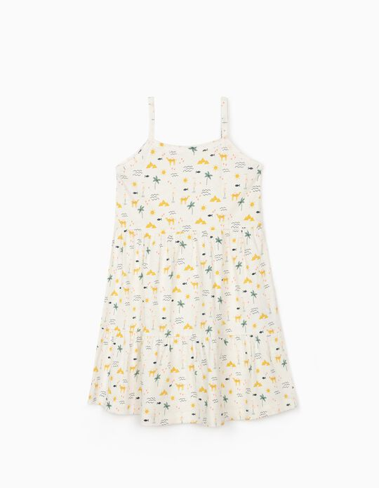 Dress in Organic Cotton for Girls, 'Egypt', White
