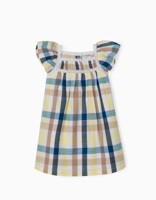Vestido Ajedrezado para Niña 'B&S', Multicolor