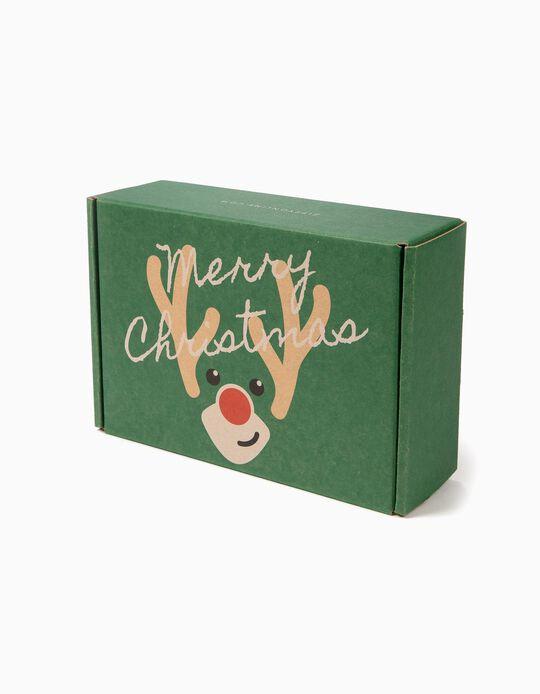 Caixa Presente de Natal Pequena, Verde