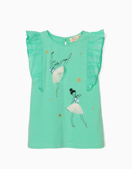 T-shirt for Girls, 'Ballerinas', Green