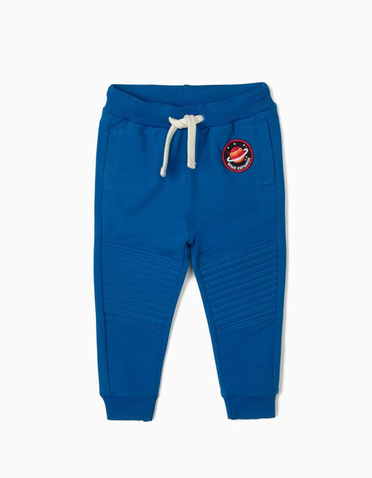 Joggers for Baby Boys, 'Space Explorer', Blue
